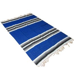 OMSutra Mexican Striped Blanket, Blue