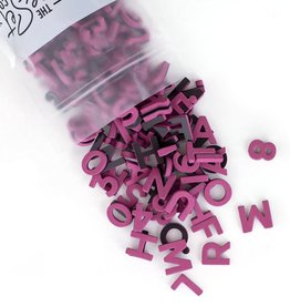 The Type Set Co. Magnetic Letters - Plum Crazy