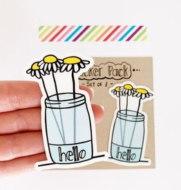 Yellow Daisy Paper Co. Daisy Flower Sticker