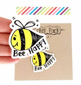 Yellow Daisy Paper Co. Bee Happy Sticker