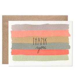 Hartland Brooklyn Thank You Watercolor Stripes, Boxed