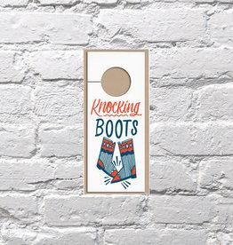 Bench Pressed Knocking Boots Door Hanger