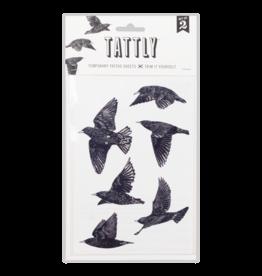 Tattly Tattoo, European Starlings