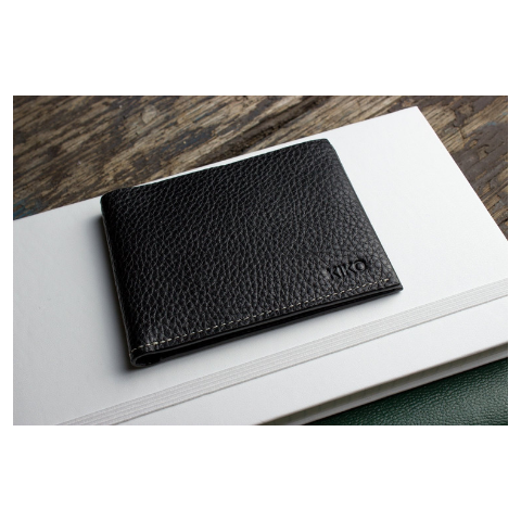 Kiko Classic Leather Wallet, Black