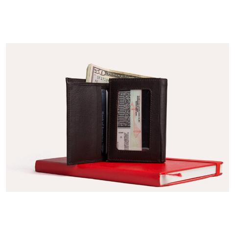 Kiko Trifold Wallet, Brown