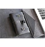 Kiko Leather Cord Wrap, Black