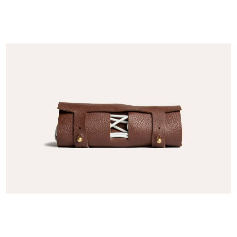 Kiko Leather Cord Wrap, Brown