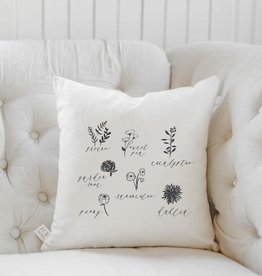 PCB Home Flower Types Pillow, 16x16
