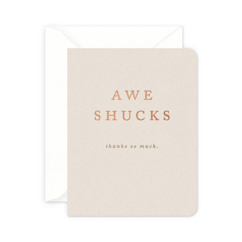 Smitten on Paper Shucks