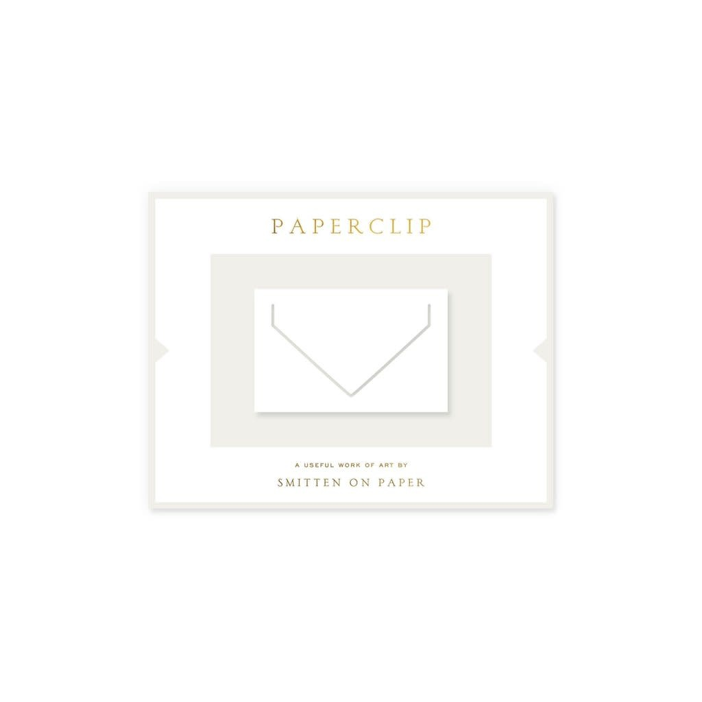 Smitten on Paper Large Envelope Paperclip, White