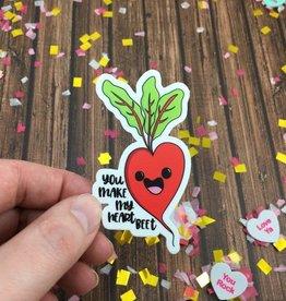 Andrea K Doodles Heart Beet Sticker