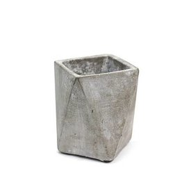 Soul of the Party Geometric Concrete Planter, Gray