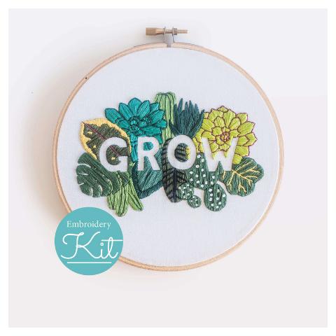 Brynn & Co. Grow Embroidery Kit