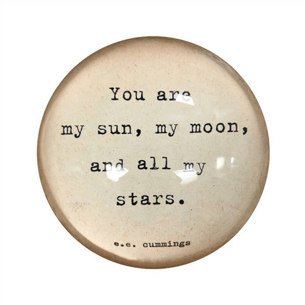 SugarBoo Designs Paper Weight - My Sun, My Moon