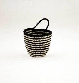 MOkun Mini Striped B&W Planter