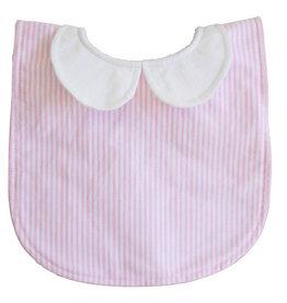 Alimrose Peter Pan Collar Bib, Pink Stripe