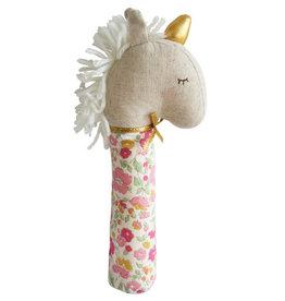 Alimrose Yvette Unicorn Squeaker, Rose Garden