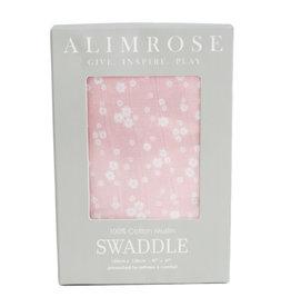 Alimrose Muslin Swaddle, Daisy Print Pink