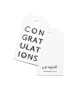 In the Daylight Congratulations Botanic Gift Tag