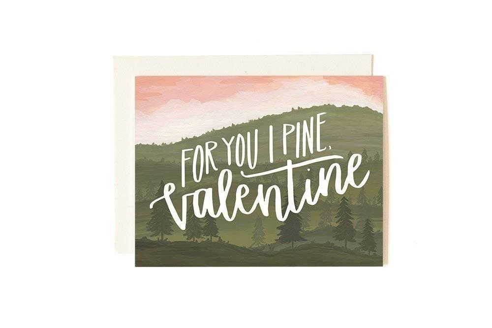 1Canoe2 Pine Valentine Card