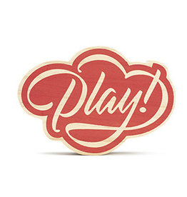 Compendium Play! Wooden Sign