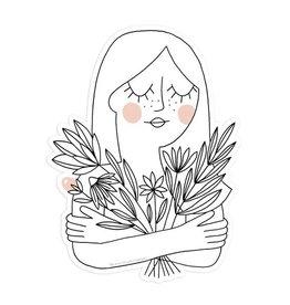 Worthwhile Paper Flower Girl Sticker
