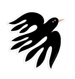 Worthwhile Paper Black Bird Sticker