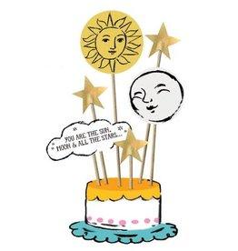 Tops Malibu Cake Topper - Sun, Moon & Stars