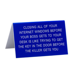 About Face Key in the Door Sign