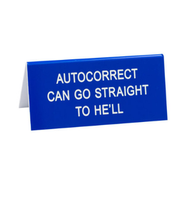About Face Autocorrect Sign