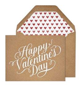 Sugar Paper Happy Valentine's Day, Kraft Card