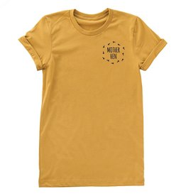 Nature Supply Co. Mother Hen Tee, Mustard (M)