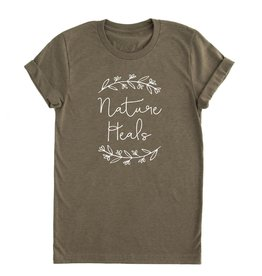 Nature Supply Co. Nature Heals Tee, Olive (L)