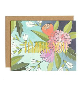 1Canoe2 Floral Foil Thank You