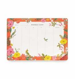 Rifle Paper Shanghai Garden Weekly Desk Pad