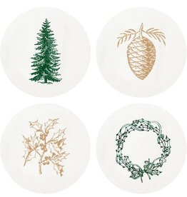 Haute Papier Coasters - Large Greens
