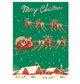 Cavallini Papers Santa & Sleigh Wrap