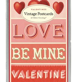 Cavallini Papers Vintage Valentines 12 Assorted Postcards