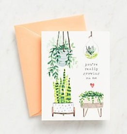 Waste Not Paper Growing on Me Card