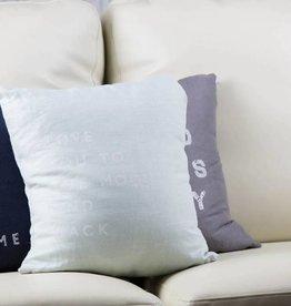 Casa & Co. To The Moon Pillow, Sea Glass