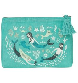 Now Designs Sea Spell Linen Bag, Small