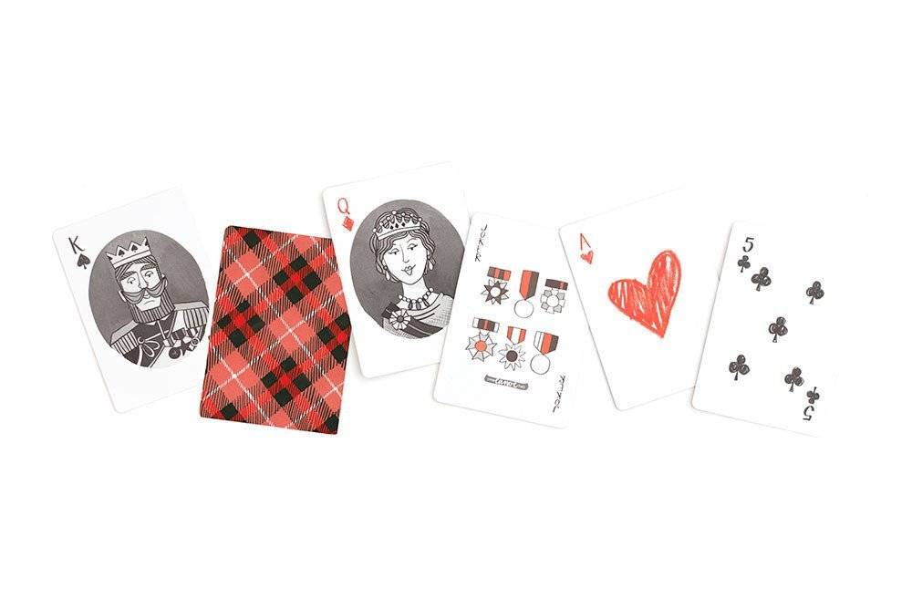 1Canoe2 Plaid Playing Cards