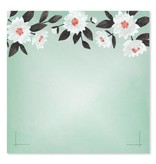 1Canoe2 Mint Floral Notepad
