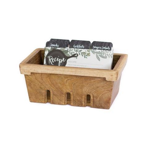 1Canoe2 Berry Basket Recipe Box w/ Herb Border
