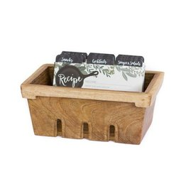 1Canoe2 Berry Basket Recipe Box w/ Herb Border
