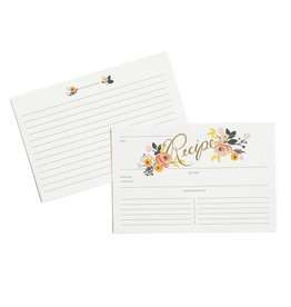 Rifle Paper Peony Recipe Cards