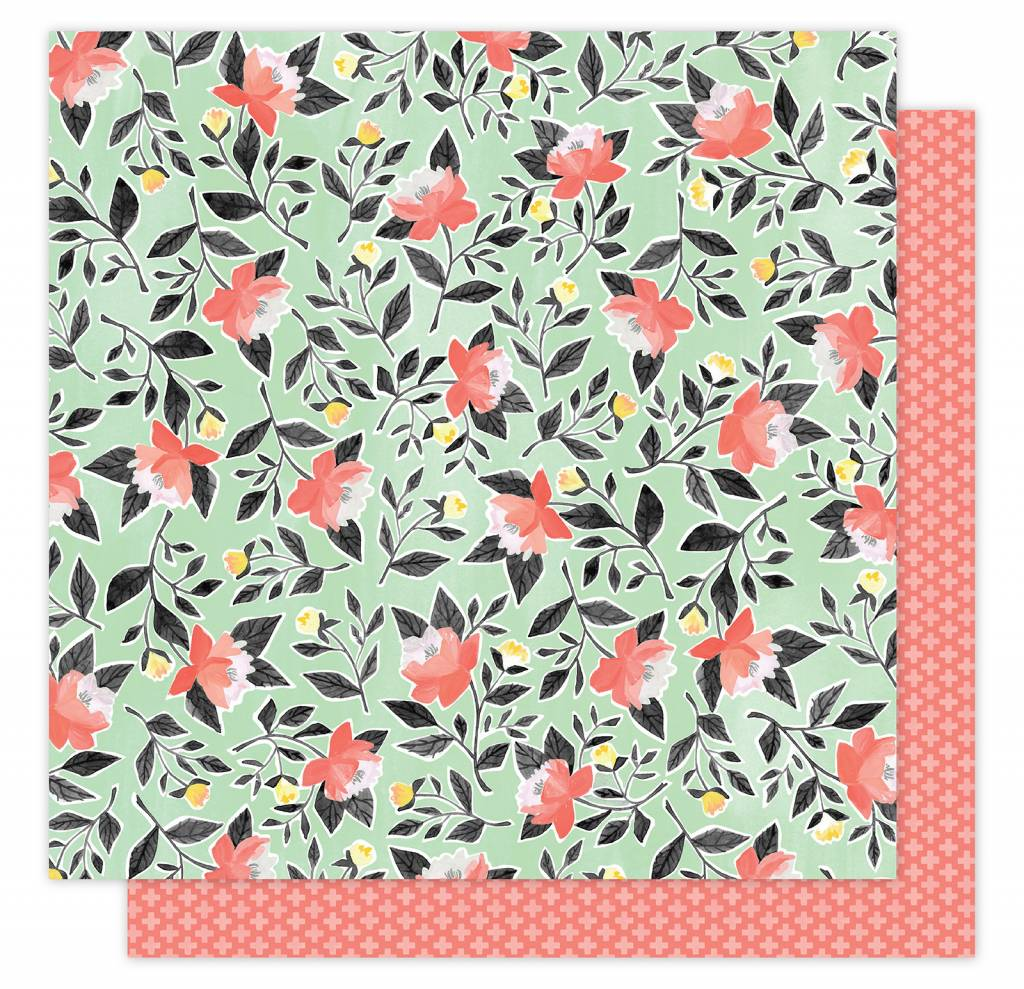 American Crafts Hazelwood Roses Paper