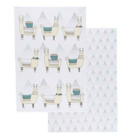 Now Designs Llamarama Tea Towels, Set/2