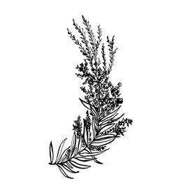 Typo Flowers, B&W #4