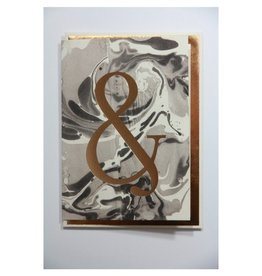 Katie Leamon Marbled Alphabet Card - &